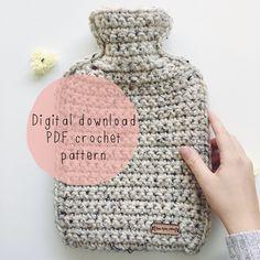 db1cf9be6a Chunky Hot Water Bottle Cover - Crochet PDF PATTERN