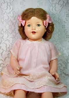 Vintage composition doll, 1930's.