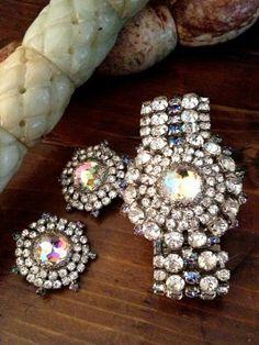 Rare Vintage Hobe Bracelet and Earring Set - Amazing. $ 189.99, via Etsy.