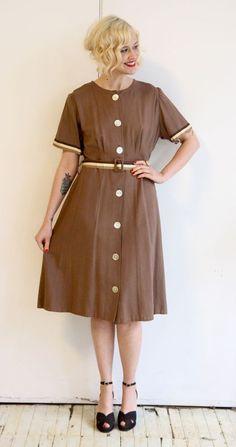 1960s Dress // vintage 60s plus size dress // by dethrosevintage, $65.00