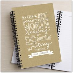 Worthwhile Words - Paper Notebooks in Walnut or Eggshell | Stacey Day