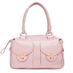 Mimco Turnlock Handbag Rose Gold And Blush Bag Pink