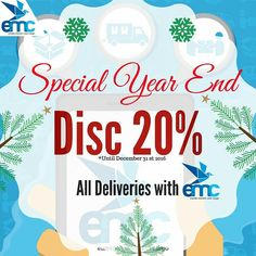 "SPECIAL YEAR END 20% Discount on all deliveries with EMC (Eureka Movers and Cargo)"" ---- EMC, Your best Solutions in Delivery. #application #apps #web #eureka #discount #promo #eurekalogisticscom #eurekalovers #logisticsmanagement #logisticstagram #logisticscompany #trucking #cargo #movers #hdr_beautiful_landscapes #vscocamphotos #potd #picoftheday #eurekalogistics #logistik - #regrann"