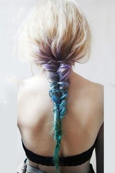 Eye-catching Gradual Color Hair Extension