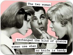 You're Both Getting Played: When Women Fight Over A Man Retro Humor, Vintage Humor, Retro Funny, Funny Vintage, Vintage Images, Baby Mama Drama, Funny Baby Pictures, Cinema, Funny Couples