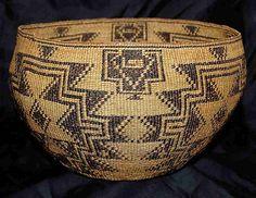 Pit River / Achumawi Basket http://www.rubylane.com/shops/dragonslairantiques/iteml/R458#pic1