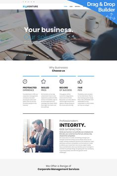 BigVenture - Consulting Group Moto CMS 3 Template #65573