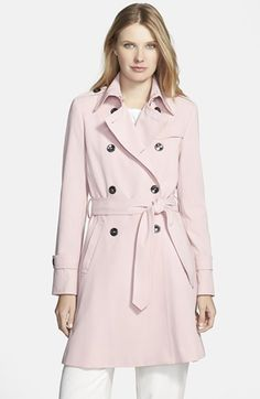 Trina Turk 'Juliette' Double Breasted Skirted Trench Coat | Nordstrom
