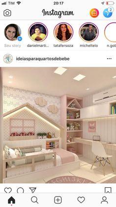 Das Haus am Bett - - Raumteiler Wohnzimmer - DIY Wohnzimmer Diy Bedroom Decor For Teens, Kids Bedroom Designs, Kids Room Design, Baby Room Decor, Toddler Rooms, Baby Bedroom, Ikea Girls Bedroom, Little Girl Rooms, Awesome Bedrooms