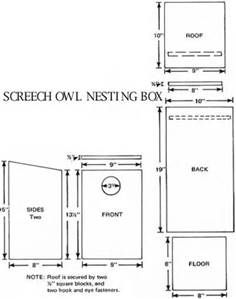 Screech Owl House Plans How Build Box