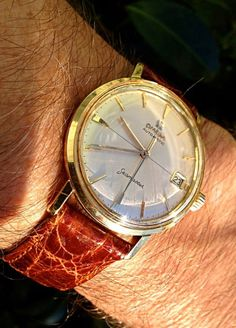 Superb Vintage OMEGA Seamaster Automatic In Gold-Cap - http://omegaforums.net