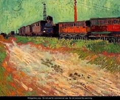 Railway Carriages - Vincent Van Gogh - WikiGallery.org, the largest gallery in the world