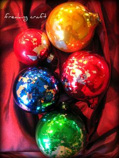 freaking craft: i'm dreaming of an old christmas...diy vintage christmas ornaments