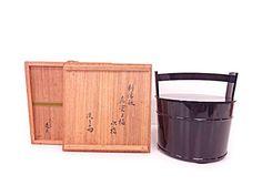 1998389: JAPANESE TEA CEREMONY / PREMIUM MIZUSASHI (WATER JAR) / KINSA KAWABATA