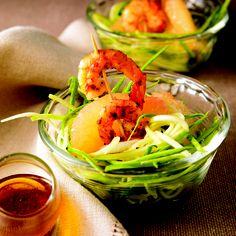 Toronja con camarón... ¡Nutritiva y deliciosa! ¿Se te antoja?