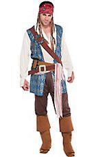 Adult Jack Sparrow Pirate Costume