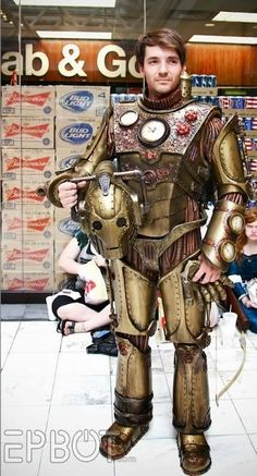 Epic Steampunk Cyberman cosplay