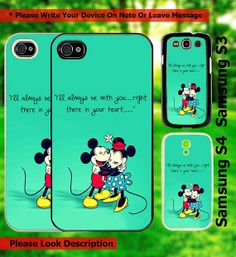 Mickey and Minnie Mouse Love iphone 45 samsung by artisticvalue, $15.99