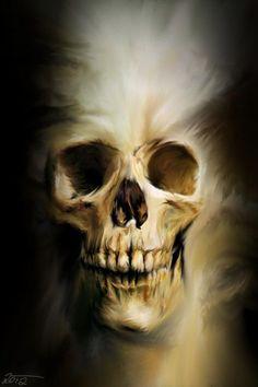Demon skull - Skullspiration.com - skull designs, art, fashion and more: