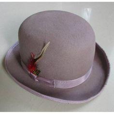 Lavender Wool Winter Fashion Dress Derby Hats for Men Women SKU-159008