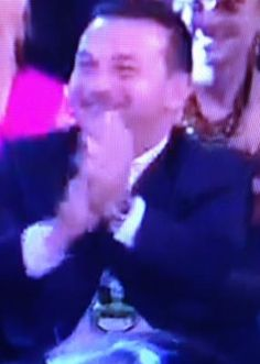 Paul's reaction AWWW hes soo proud of his homos :D