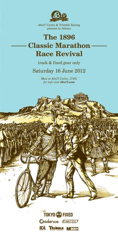 The 1896 Classic Marathon Race Revival by tind and Bend , via Behance