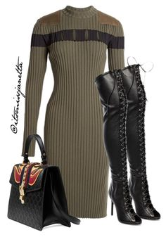 """Untitled #29"" by itsmissjanetta on Polyvore featuring Alexander Wang, Gucci and Schutz"