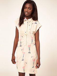 It's time to button it, in this printed flamingo shirt dress. Perfect for making workwear more fun.Vero Moda Flamingo Print Shirt Dress, £24.50, Asos.com   -Cosmopolitan.co.uk