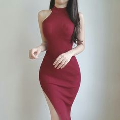 Pin by Bliss on Outfits in 2019 Sexy Dresses, Cute Dresses, Dress Outfits, Casual Dresses, Girl Outfits, Fashion Dresses, Cute Outfits, Ulzzang Fashion, Asian Fashion