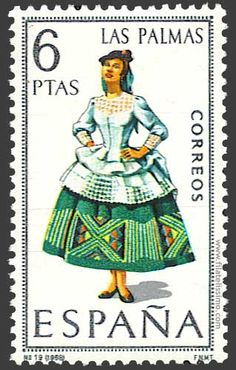 Collection of Spanish stamps:  1968 Las Palmas