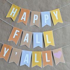 Fall Banner {free printable}