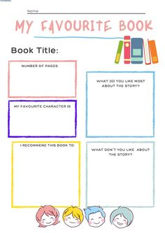 My favourite book interactive worksheet Forgot My Password, Writing About Yourself, Writing Worksheets, School Subjects, Google Classroom, Book Title, Books Online, Colorful Backgrounds, Teaching