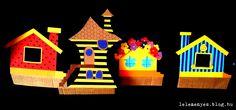 Bogyó és Babóca házak papírból