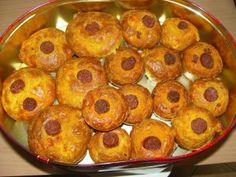 Sós muffin receptek: magyaros muffin Doughnut, Breakfast, Food, Candy, Breakfast Cafe, Essen, Yemek, Meals