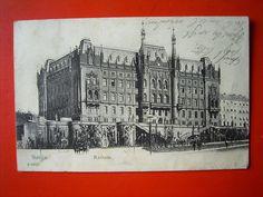 Stettin Szczecin - Partie am Rathaus , gel.1905