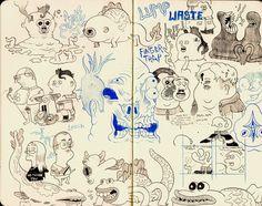 NICK EDWARDS: Sketch book scans