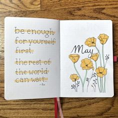 May Bullet Journal Spreads with Golden Poppies Theme for Spring Celebration . - May Bullet Journal Spreads with Golden Poppies Theme for Spring Celebration Bullet Journal School, Self Care Bullet Journal, Bullet Journal Quotes, Bullet Journal Cover Page, Bullet Journal Lettering Ideas, Bullet Journal Tracker, Bullet Journal Notebook, Bullet Journal Aesthetic, Bullet Journal Spread
