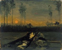 Van Gogh, Landscape at Dusk, April 1885