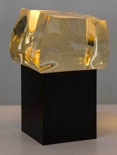 Christophe Côme | Petite Yellow Loukoum (2012) crystal #transparency www.clerkbase.com/transparency.php