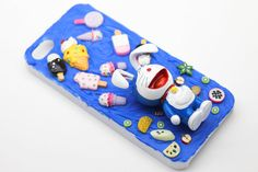 46# Cartoon Doraemon and Ice Cream OOAK iPhone 5 / 5s Cell Phone Case - Ready to ship on Etsy, $9.90