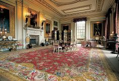 Reproduction of a Savonnerie carpet for the private Dining Room at Chatsworth… Home Carpet, Rugs On Carpet, Carpets, The Duchess Of Devonshire, Woburn Abbey, Royal Pavilion, Chatsworth House, Private Dining Room, Antique Interior