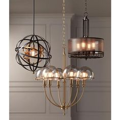 "Uttermost Rondure 23"" Wide Bronze and Brass Pendant - #8P360 