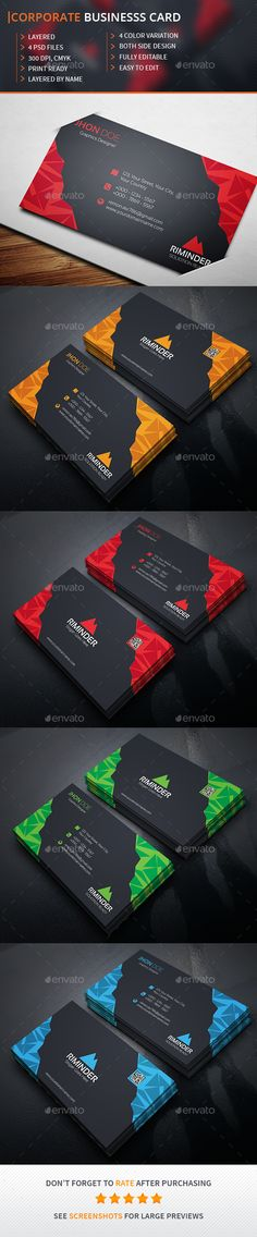 Business Card Template PSD #design Download: http://graphicriver.net/item/business-card/13538546?ref=ksioks