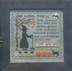 Like the verse, not the design. Lila's Studio - Old Witch Mary