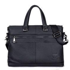 Bullcaptain Business Briefcase Genuine Leather Crossbody Bag Sling Bag For Men