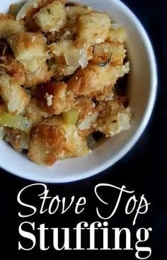 Great stove top stuffing recipe! The stuffing that comes in the classic box is not healthy at all. It's full of awful ingredients such as MSG, high fructose corn syrup, soy, partially hydrogenated oils, a bunch of preservatives and many more unnatural ingredients. Thanksgiving Recipes, Fall Recipes, Holiday Recipes, Whole Food Recipes, Healthy Recipes, Holiday Ideas, Healthy Desserts, Holiday Fun, Healthy Sides