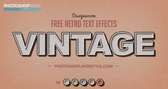 Free Vintage/Retro Text Effects