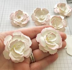Today I thought I would share how to make paper flowers. They are so pretty and fairly easy to make once you get going. I find they look. Paper Quilling Flowers, How To Make Paper Flowers, Giant Paper Flowers, Paper Roses, Diy Flowers, Fabric Flowers, Tissue Paper Flowers Easy, Scrapbook Paper Flowers, Material Flowers