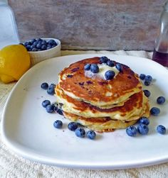 Life Tastes Good: Lemon Blueberry Pancakes are easy to make and full of lemony blueberry goodness! Make these for Mom on Mother's Day!! #brunch #MothersDay