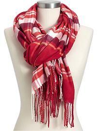 Women's Plaid Flannel Scarves